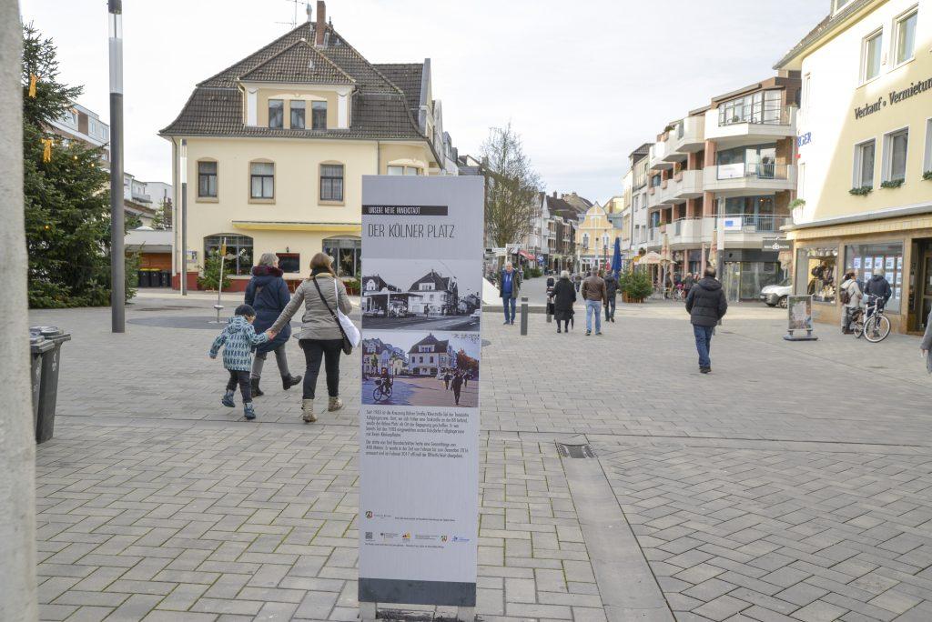 Kölner Platz: die von Notar Stephan Römer gesponserte Stele